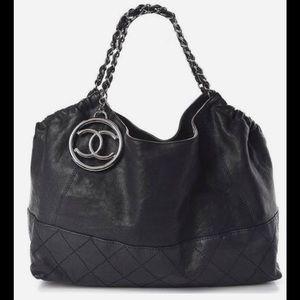 Chanel Black Coco Cabas Tote